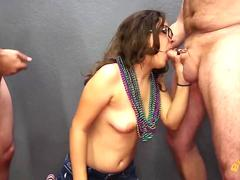 Petite Teen Gives Multiple Blowjobs and Swallows Cum