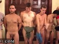 College guys stripped and hazed at a frat house