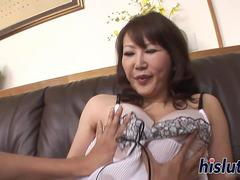 Busty Japanese slut has her cunt slammed