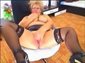 Big Tits Mature in Leather Skirt