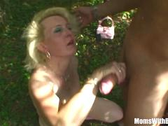 Blonde Mama Jana Receives Rough Fucking Outdoors