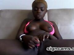 ebony teen masturbates masturbation