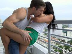 fantastic balcony fuck for all the world to see