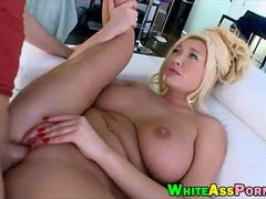 Big hooters slut Summer Brielle slammed by big hard dick