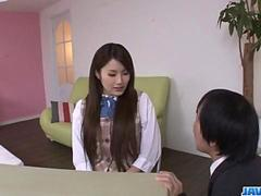 Runa Ayase, schoolgirl in heats, enjoys teachers dick