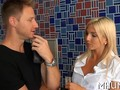 Blonde MILF cant resist the charms and cock of Levi Cash