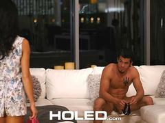 HOLED - Megan Rain rope bondage for hardcore anal