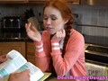 Tiny ginger teen fucked hard by tutor