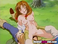 Big tits Hentai slut gets fucked out in the woods