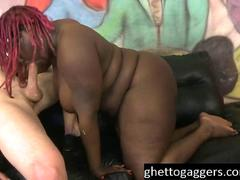 Fat Black Slut Marley XXX Gets White Dick