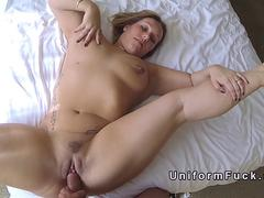 Busty bbw fucks fake cop in hotel