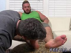Buff white men sucking toes and boys vs boys licks feet sniffing gay Aaron Bruiser Lets