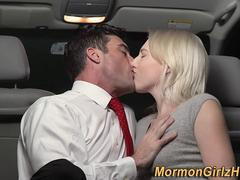 Teen cum in mission van