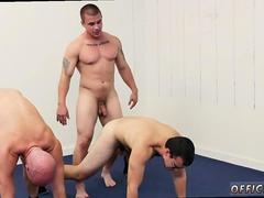 Yoga instructor gives a sexy lesson to his students