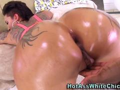 Big ass tattooed babe gets destroyed by a BBC