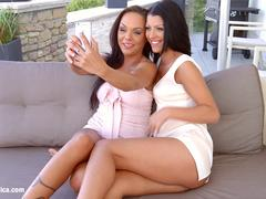 Sapphic Erotica presents Vivien Bell and Angelina Wild lesbians