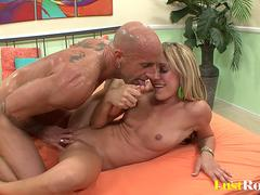 Sexy blonde Amy Brooke gets licked and fucked