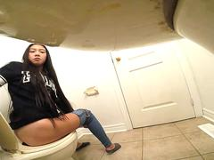 Asian teen bathroom spy cam