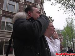 Bigtitted amsterdam hooker gets cumshowered