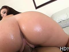Amazing babe rides a giant dick in reverse cowgirl POV