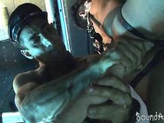 young bound hunk works his sorry mouth and butt film