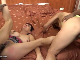 granny interracial group sex hardcore fuck with anal