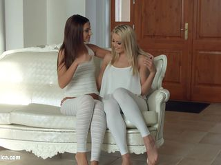 sensual lesbian scene by sapphix with christen courtney and alexis brill - book of 69