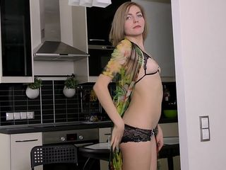 russian housewife in the kitchen