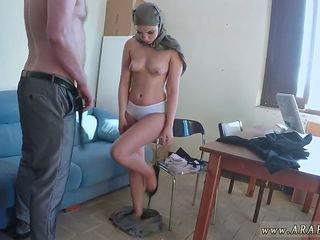 arab darling gets down on her knees to blow a fine pecker