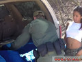 Interracial squirt hd Cute Ebony teenager gets fucked in the back of a patrol car