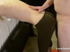 Daddy Rips My Yoga Pants And Fuck Me From Behind