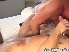Jock barebacked by his muscular partner