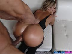 Big Booty Blonde in Stockings Fucked