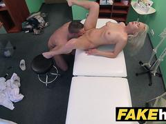 Fake Hospital Big tits horny Milf chiropractor fucks doctor after massage
