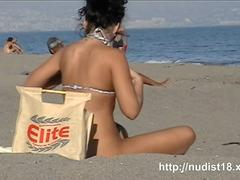 a voracious voyeur loves making videos on the nude beach clip