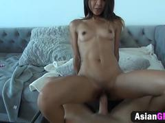 BF records fucking his small tit Asian girlfriend Mila Fyre