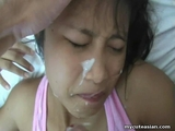 Asian amateur ass fucked then facial