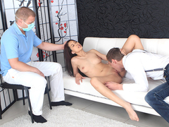 Leras gynecologist watches her have sex in order to diagnose her correctly