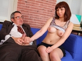 Elena struggles for her grades in her teachers class and wants to fuck him for a better grade today