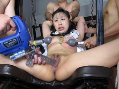 Asian group fucking babes tied up pussy