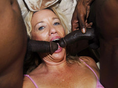 American blonde mature sucking big black cocks
